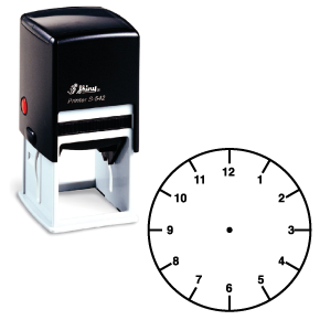 Clock Face Self-inking Stamp